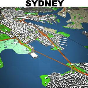 sydney cityscape 3D model