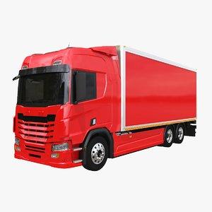 generic box truck 3D model