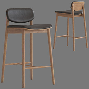 oslo home landaux barstool 3D model
