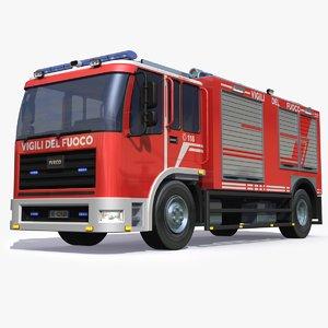 3D italian firetruck model