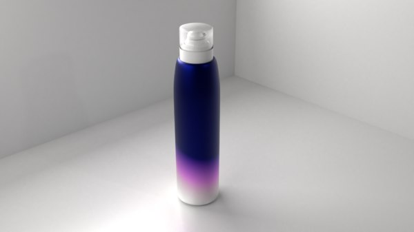 3D metal mousse spray bottle model