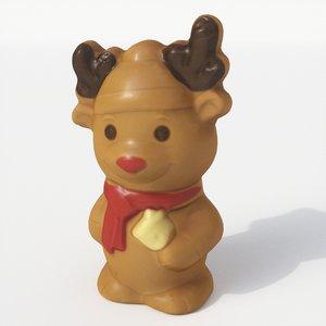 3D chocolate reindeer model