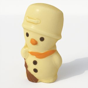 choco snowman snow 3D model