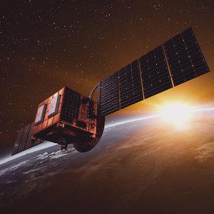 3D orbital space satellite