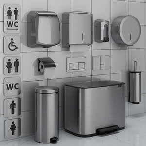 bathroom accessories set 71 3D model