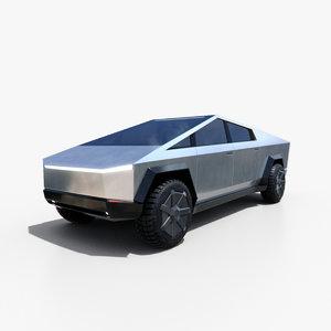 tesla cybertruck 3D model