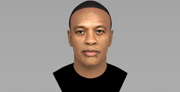 dr dre bust ready 3D model