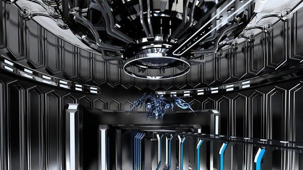 science fiction space 3D model