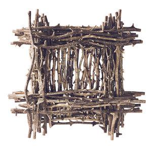 3D branch decor tree