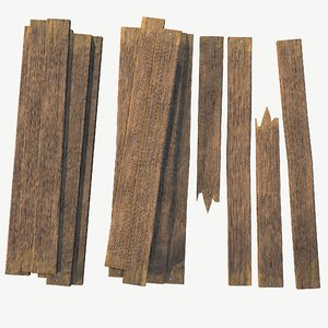 pack wooden plank 3D