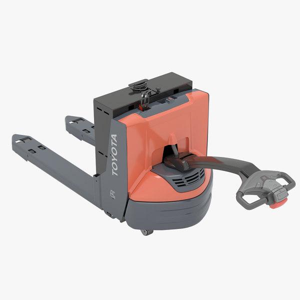 toyota electric walkie spec 3D