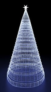 christmas tree lights 3D model