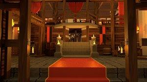 3D medieval guild hall