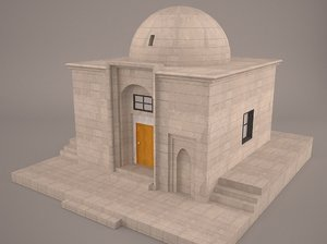 cemetery graveyard tomb crypt 3D model