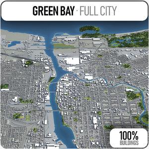 3D green bay surrounding -