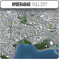 3D model hyderabad surrounding -