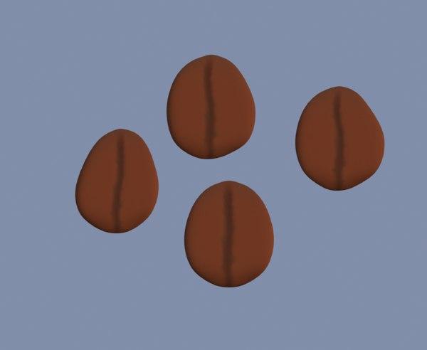 3D brown coffee bean