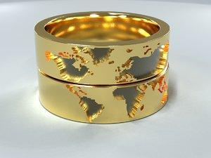 3D model rings jewelry