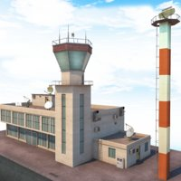3D airport terminal - control tower model