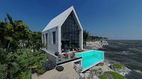 3D house beach