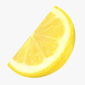 realistic lemon slice 3D