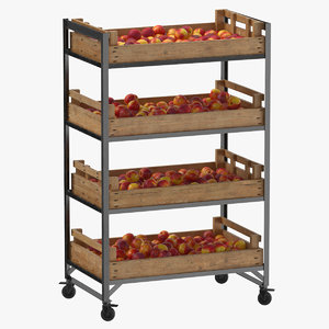 3D model retail shelf 02 01