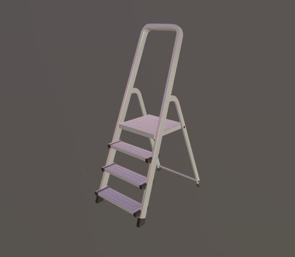 stepladder step 3D model