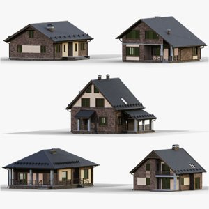 3D model gameready house 2