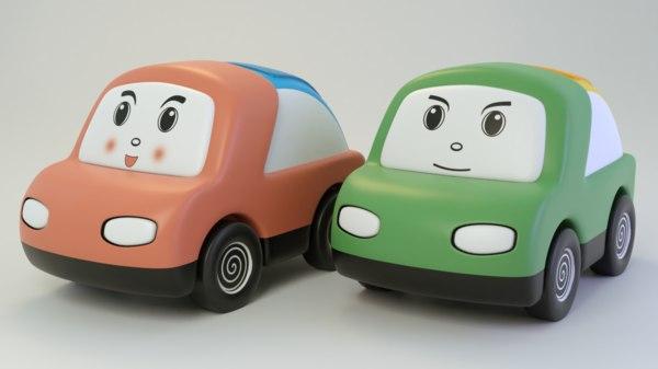 3D cartoon cute car