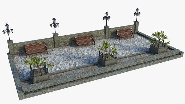 classic street 3D model