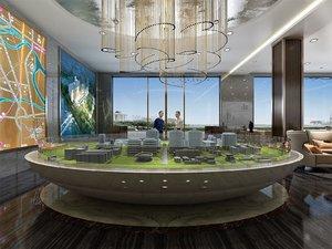 presentation hall layout lobby model