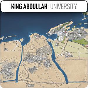 city king abdullah university 3D model