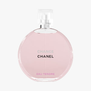 chanel chance eau tendre 3D model