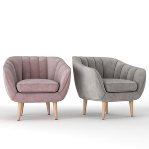 pink rose chair 3D model