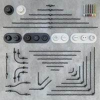 Retro wiring designer sockets and switches