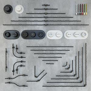 3D retro wiring designer socket