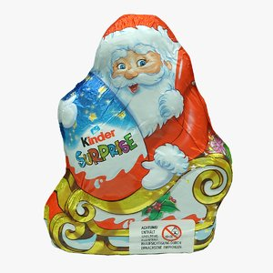 3D christmas chocolate santa claus