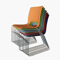 hon stacking chairs 3D