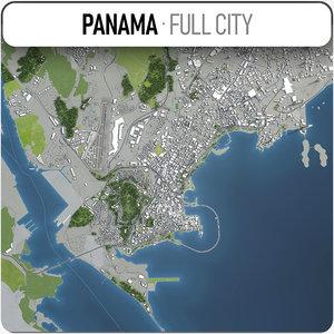 3D panama area extents