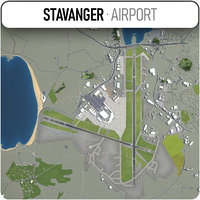 stavanger airport 3D
