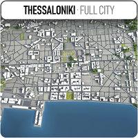 thessaloniki surrounding - 3D model