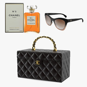 chanel sunglasses cosmetic 3D model