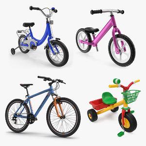 child bikes 2 3D