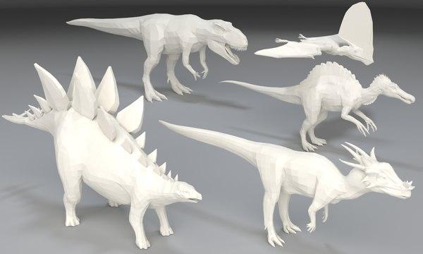 dinosaurs giganotosaurus spinosaurus 3D model