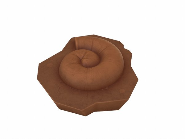 fossil ammonite 3D model
