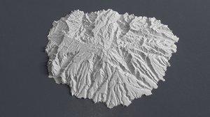 elevation island gomera quad 3D model