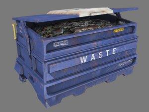 pbr dumpster 3D model