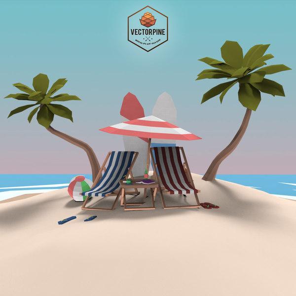 exteriors - beach seaside model