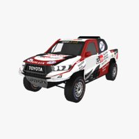 toyota hilux rally dakar 3D model