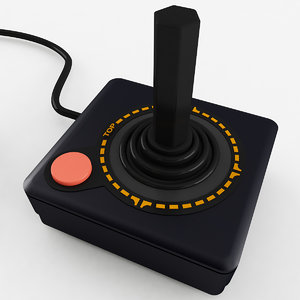 atari joystick 3D model